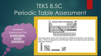 8.5C Periodic Table Assessment