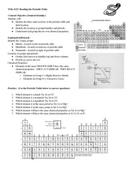 8.5C Periodic Table Practice