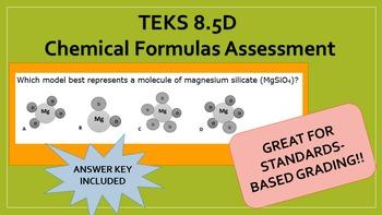 8.5D Chemical Formulas Assessment