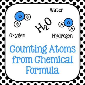 Counting Atoms Worksheet Teachers Pay Teachers