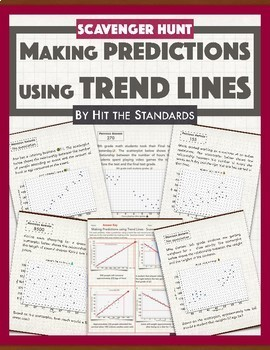 Predictions from Scatter Plots using Trend Lines (best fit) -SCAVENGER HUNT 8.5D