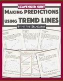 Predictions from Scatterplots using Trend Lines (best fit) -SCAVENGER HUNT
