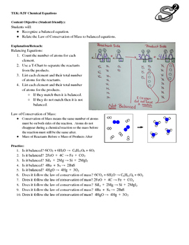 8.5F Chemical Equations Practice