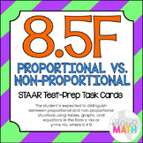 8.5F: Proportional vs. Non-Proportional STAAR EOC Test Prep Task Cards