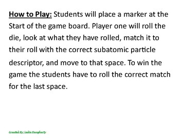 8.5a The Structure of Atoms Game