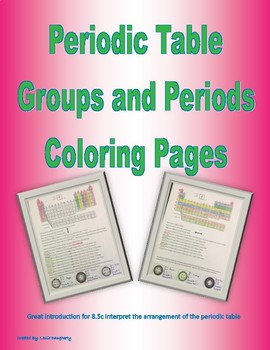 8.5c Periodic Table Groups and Period Coloring Page With Key
