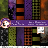 8.5x11 Halloween Haunted House Digital Papers & Background