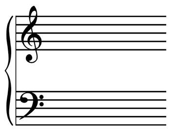8.5x11 Music Staff