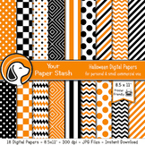 """8.5x11"""" Printable Halloween and Autumn Digital Papers and"""