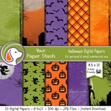 """8.5x11"""" Spooky Halloween Digital Papers and Backgrounds, C"""