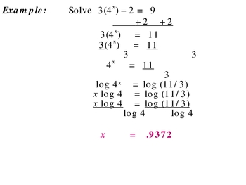 8-6 Solve exponential equations