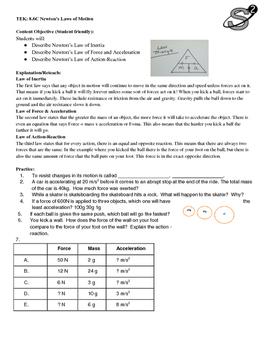 8.6C Newton's Laws of Motion Practice