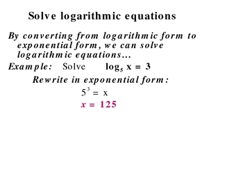 8-6a Solve exponential equations (Part II)