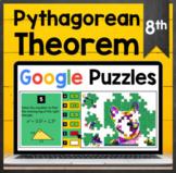 TEKS 8.7C ✩ Using the Pythagorean Theorem ✩ Google Sheets Puzzle Activity