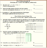 """08 Algebra 2 """"Polynomial Functions"""" Chapter Tests and Quiz"""