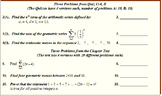 """13 Algebra 2 """"Sequences and Series"""" Chapter Tests and Quiz"""