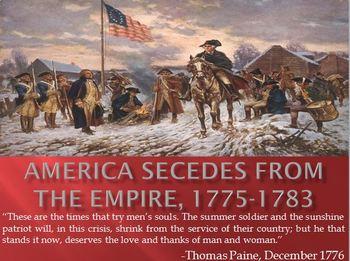 8. America Secedes from the Empire, 1775-1783