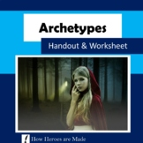 8 Archetypes - Worksheet, Handout, Activities - Distance Learning