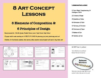 8 Art Concept Lessons: 8 Elements of Composition & 6 Principles of Design