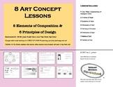 8 Art Concept Lessons: 8 Elements of Composition & 6 Princ