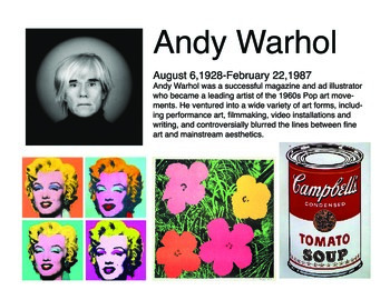 8 Artist Bio posters w/ work examples
