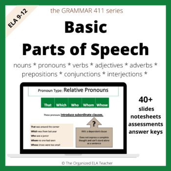 Grammar Basic Parts of Speech