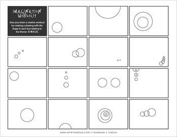 Basic Shapes Imagination Workout Printables