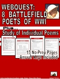 WWI: 8 Battlefield Poets: History Channel Webquest (15 p.,