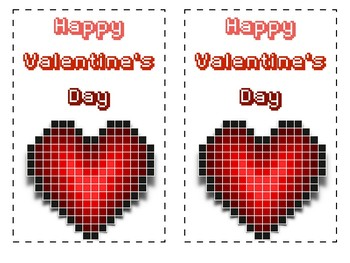 8-Bit Ready-Made Valentine's Cards