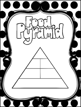 photo about Anchor Printable named 8 Black and White Foodstuff Pyramid Printable Posters/Anchor Charts.