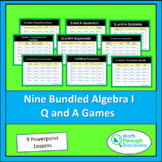 Algebra 1 - Bundled Algebra I Powerpoint Q and A Games