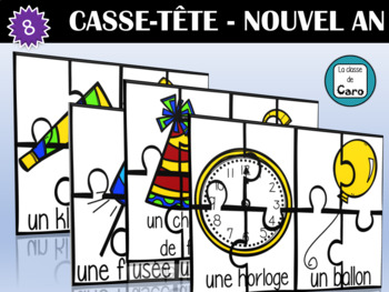 8 CASSE-TÊTE DU NOUVEL AN - IMPRIMABLE (French - FSL)