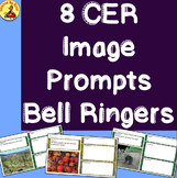 8 CER Image Prompts Bell Ringers Graphic Organizers-Distance Learning or Print
