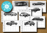 8 Car Grid Drawings - Teaching Drawing Skills