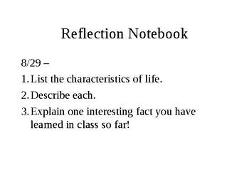 8 characteristics of life ppt