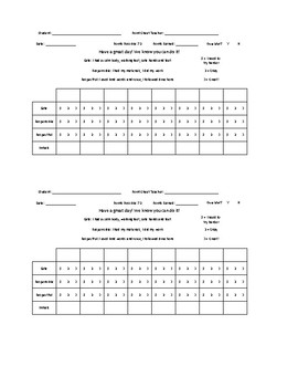 8 Check-ins Point Sheet