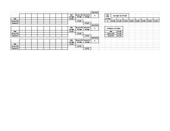 8 Check-ins Point Sheet Bundle