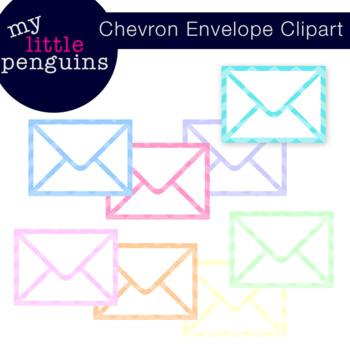 8 Chevron Envelopes