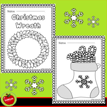 8 Christmas Coloring Pages. Large images for younger children.