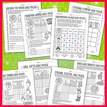 Logic Puzzles: Christmas - December themes - 4 levels