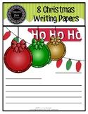8 Christmas Writing Papers (pdf) FREEBIE!!