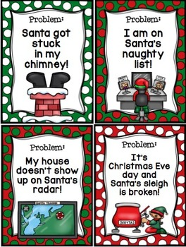 8 Christmas Writing Scenarios with Matching Writing Paper