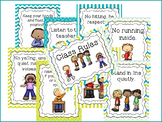 8 Class Rules Posters for your Classroom. Pre-K-5th Grade.