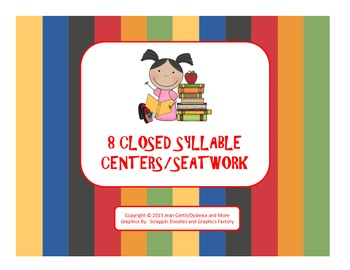 8 Closed Syllable Centers/Seatwork