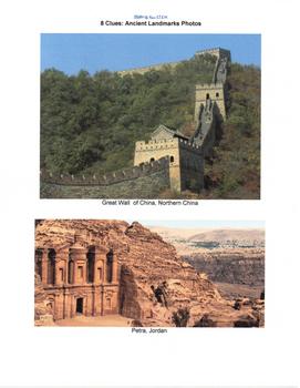 SocSci - 8 Clues: Ancient Landmarks Photos
