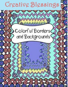 8 Color Hand Drawn Borders and Backgrounds