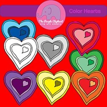 8 Color Hearts