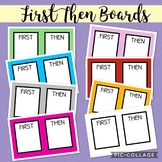 8 Colorful First Then Boards!