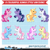 8 Colourful Kawaii Unicorns - Rearing Up