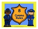 8 Comma Rules Power Point and Posters